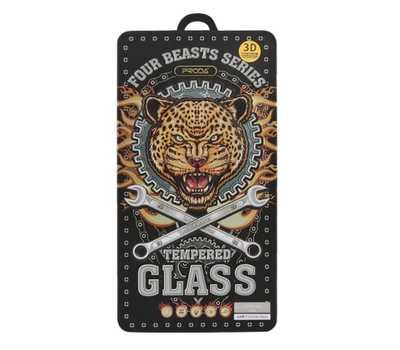 Защитное стекло REMAX Four Beasts Tempered Glass для iPhone 6/6S с рамкой (белое) фото 2