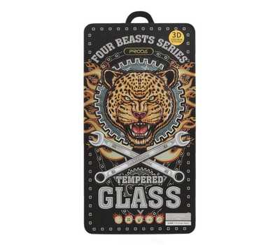 Защитное стекло REMAX Four Beasts Tempered Glass для iPhone 6/6S с рамкой (черное) фото 3
