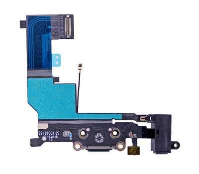 Шлейф с разъемом Lightning и mini-Jack для iPhone SE (Черный) фото 2