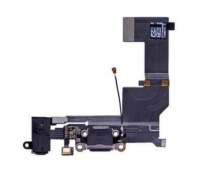 Шлейф с разъемом Lightning и mini-Jack для iPhone SE (Черный) фото 1