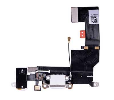 Шлейф с разъемом Lightning и mini-Jack для iPhone SE (Белый) фото 1