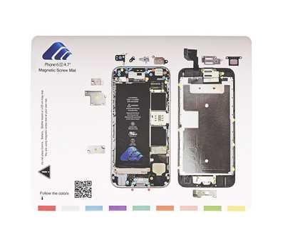 Магнитный коврик с картой винтов для iPhone 6S фото 1