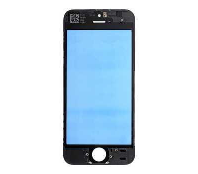 Стекло с рамкой для iPhone 5S/SE, Черное фото 3