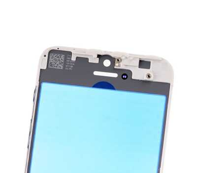 Стекло с рамкой для iPhone 5S/SE, Белое фото 4