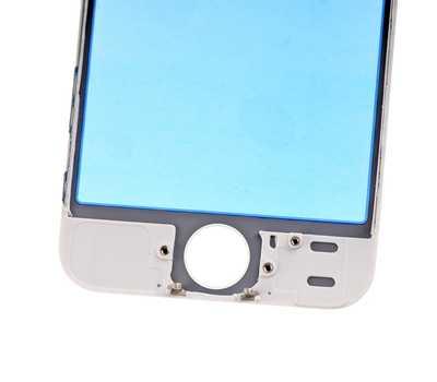 Стекло с рамкой для iPhone 5S/SE, Белое фото 5