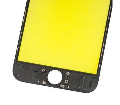 Стекло с рамкой для iPhone 6, Черное фото 5