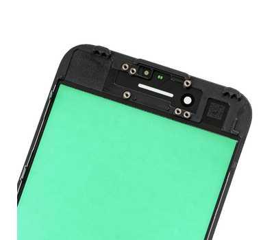 Стекло с рамкой для iPhone 7, Черное фото 4