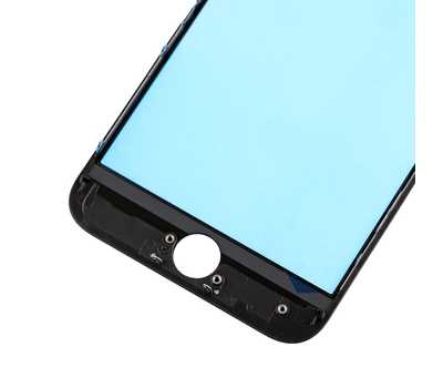 Стекло с рамкой для iPhone 8, Черное фото 5
