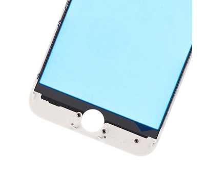 Стекло с рамкой для iPhone 8, Белое фото 5