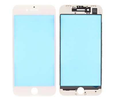 Стекло с рамкой для iPhone 8, Белое фото 1