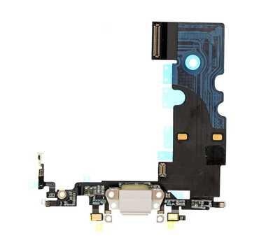 Шлейф с портом Lightning для iPhone 8, White фото 1