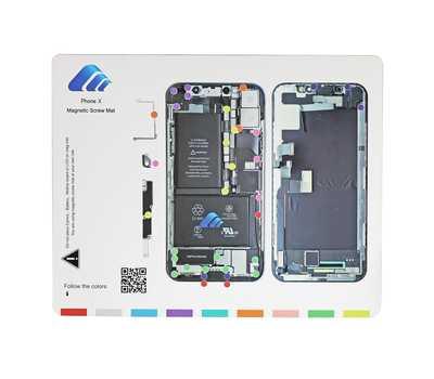 Магнитный коврик с картой винтов для iPhone X фото 1