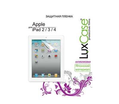 Защитная пленка LuxCase для iPad 2/3/4 (Антибликовая) фото 1