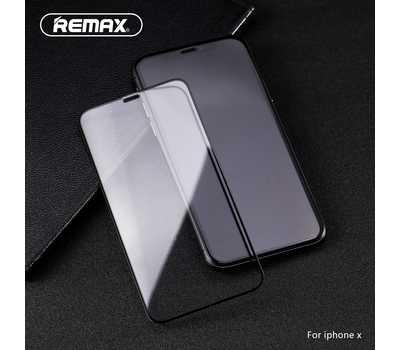 Защитное стекло REMAX Medicine Glass GL-27 для iPhone X/Xs с рамкой (черное) фото 2