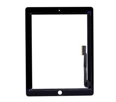 Тачскрин (сенсорное стекло) для iPad 3/4, цвет Черный фото 2