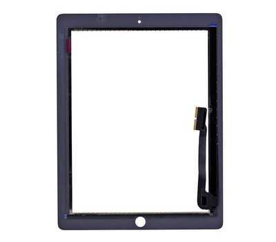 Тачскрин (сенсорное стекло) для iPad 3/4, цвет Белый фото 2