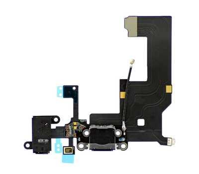 Шлейф для iPhone 5 с разъемом зарядки Lightning (Черный) фото 1