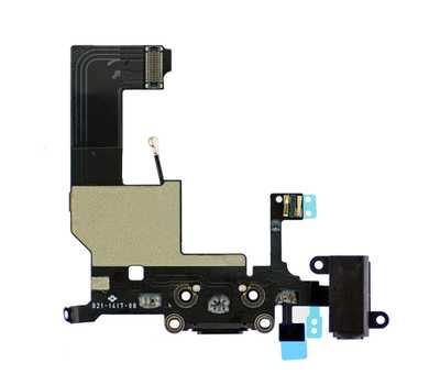 Шлейф для iPhone 5 с разъемом зарядки Lightning (Черный) фото 2