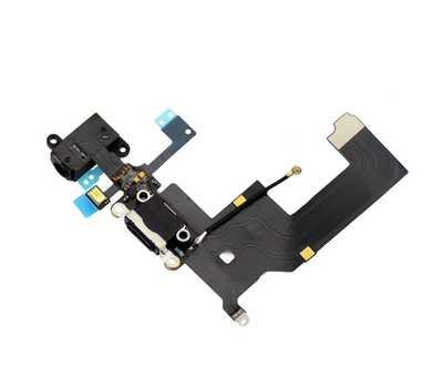 Шлейф для iPhone 5 с разъемом зарядки Lightning (Черный) фото 3