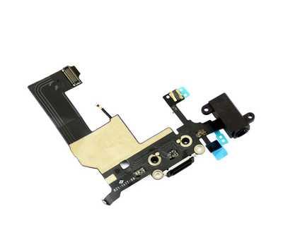 Шлейф для iPhone 5 с разъемом зарядки Lightning (Черный) фото 4