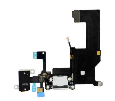 Шлейф для iPhone 5 с разъемом зарядки Lightning (Белый) фото 1