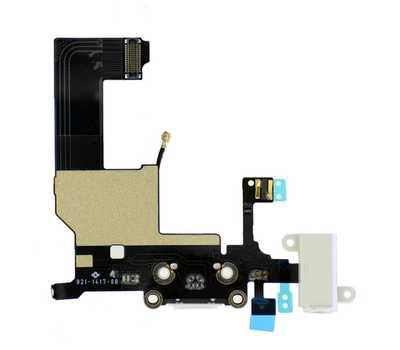 Шлейф для iPhone 5 с разъемом зарядки Lightning (Белый) фото 2