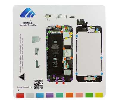 Магнитный коврик с картой винтов для iPhone 5 фото 1