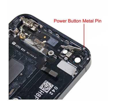 Металлический штырь держателя кнопки Power для iPhone 5/5S фото 2