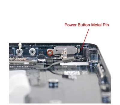 Металлический штырь держателя кнопки Power для iPhone 5/5S фото 3