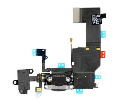 Шлейф нижний Lightning и mini-Jack для iPhone 5C фото 1
