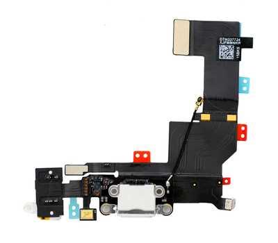 Шлейф с разъемом Lightning и mini-Jack для iPhone 5S (Белый) фото 1