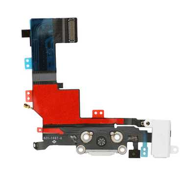 Шлейф с разъемом Lightning и mini-Jack для iPhone 5S (Белый) фото 2
