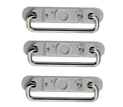 Набор боковых кнопок iPhone 6, Silver фото 2