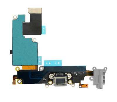 Шлейф с разъемом Lightning и mini-Jack для iPhone 6 Plus (Space Gray) фото 2