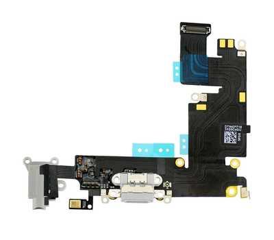 Шлейф с разъемом Lightning и mini-Jack для iPhone 6 Plus (Silver) фото 1