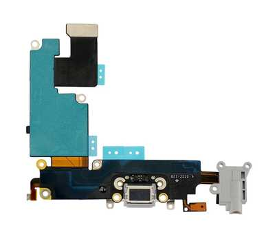 Шлейф с разъемом Lightning и mini-Jack для iPhone 6 Plus (Silver) фото 2