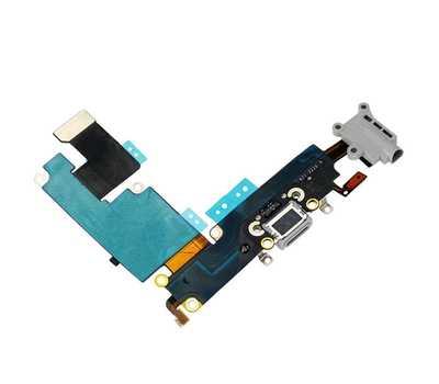 Шлейф с разъемом Lightning и mini-Jack для iPhone 6 Plus (Silver) фото 4