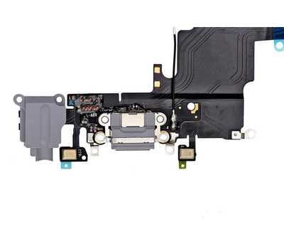 Шлейф с разъемом Lightning и mini-Jack для iPhone 6S, (Space Gray) фото 3