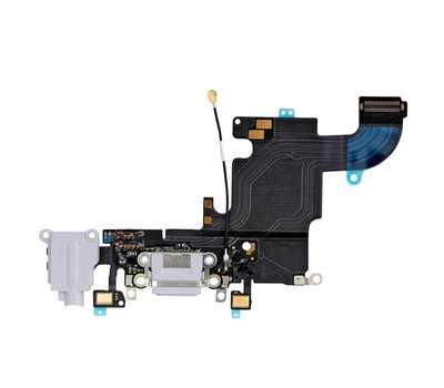Шлейф с разъемом Lightning и mini-Jack для iPhone 6S, (Silver) фото 1