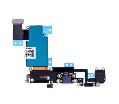 Шлейф с разъемом Lightning и mini-Jack для iPhone 6S Plus, (Space Gray) фото 2