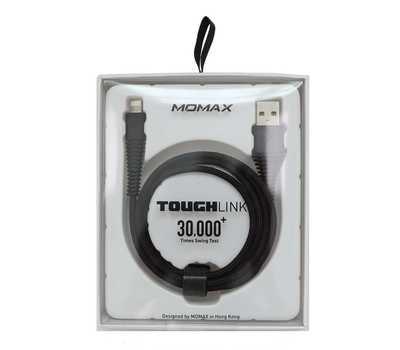 Кабель Momax Tough link Lightning (1.2м), Черный фото 6
