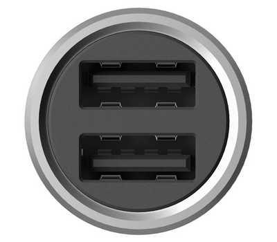Автомобильное зарядное устройство Xiaomi Mi Dual USB Silver фото 3